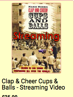 Mario Morris Clap and Cheer Cups and Balls streaming videos